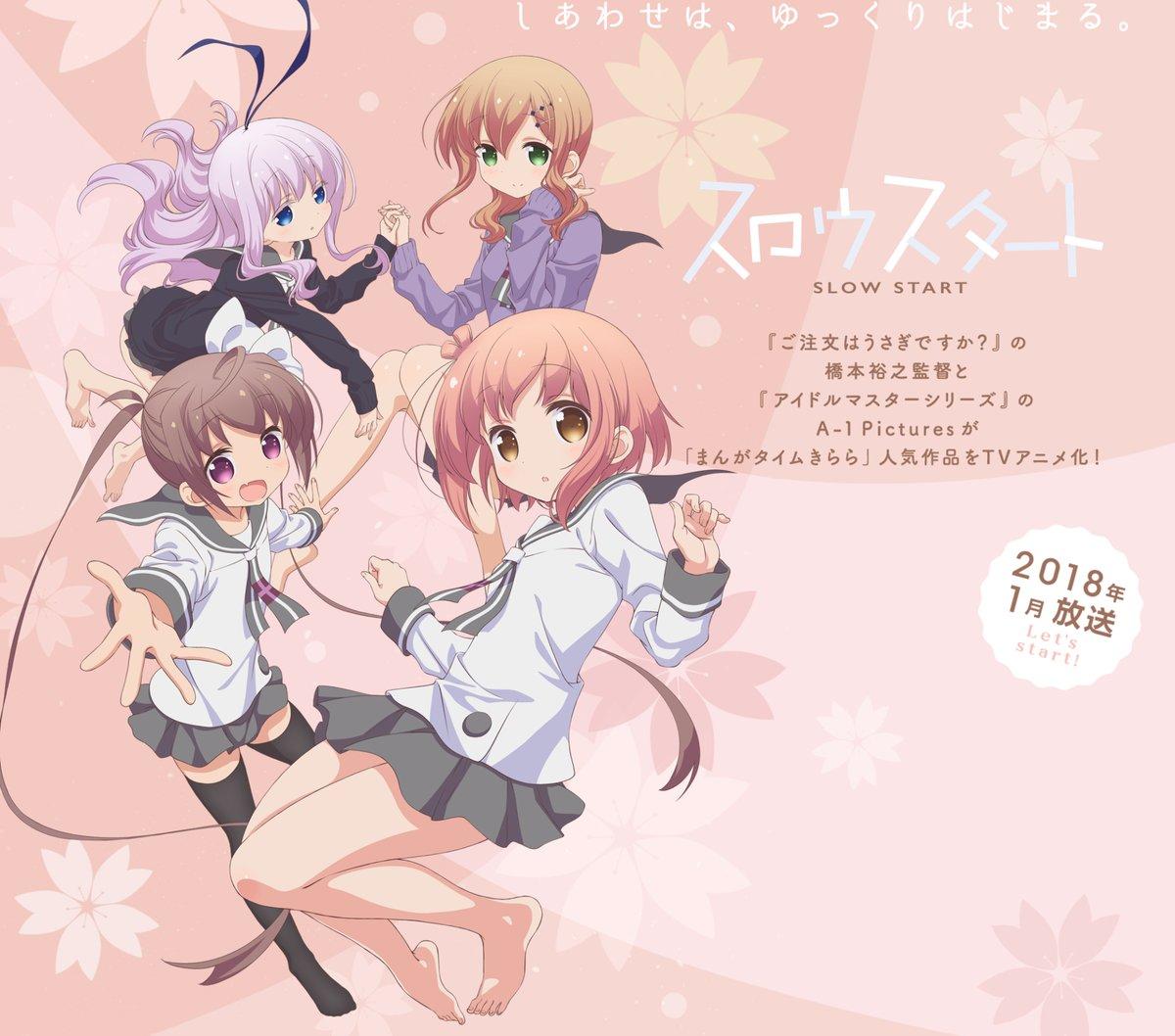 Nuevo anuncio de TV del anime Slow Start muestra nuevos personajes