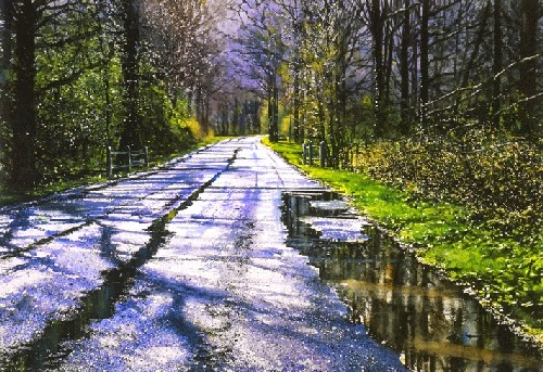 03-Ewhurst-Road-Joe-Francis-Dowden-Photo-Realistic-Watercolour-Paintings-www-designstack-co
