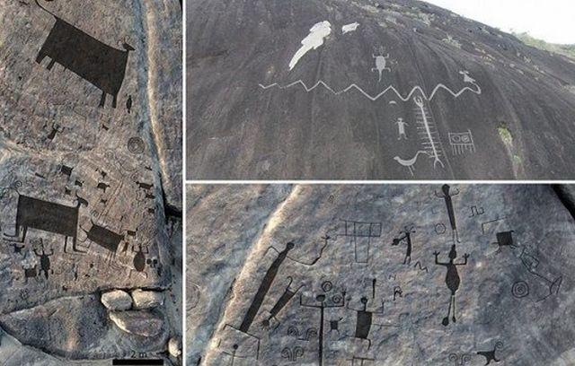 2000-летние петроглифы в Венесуэле
