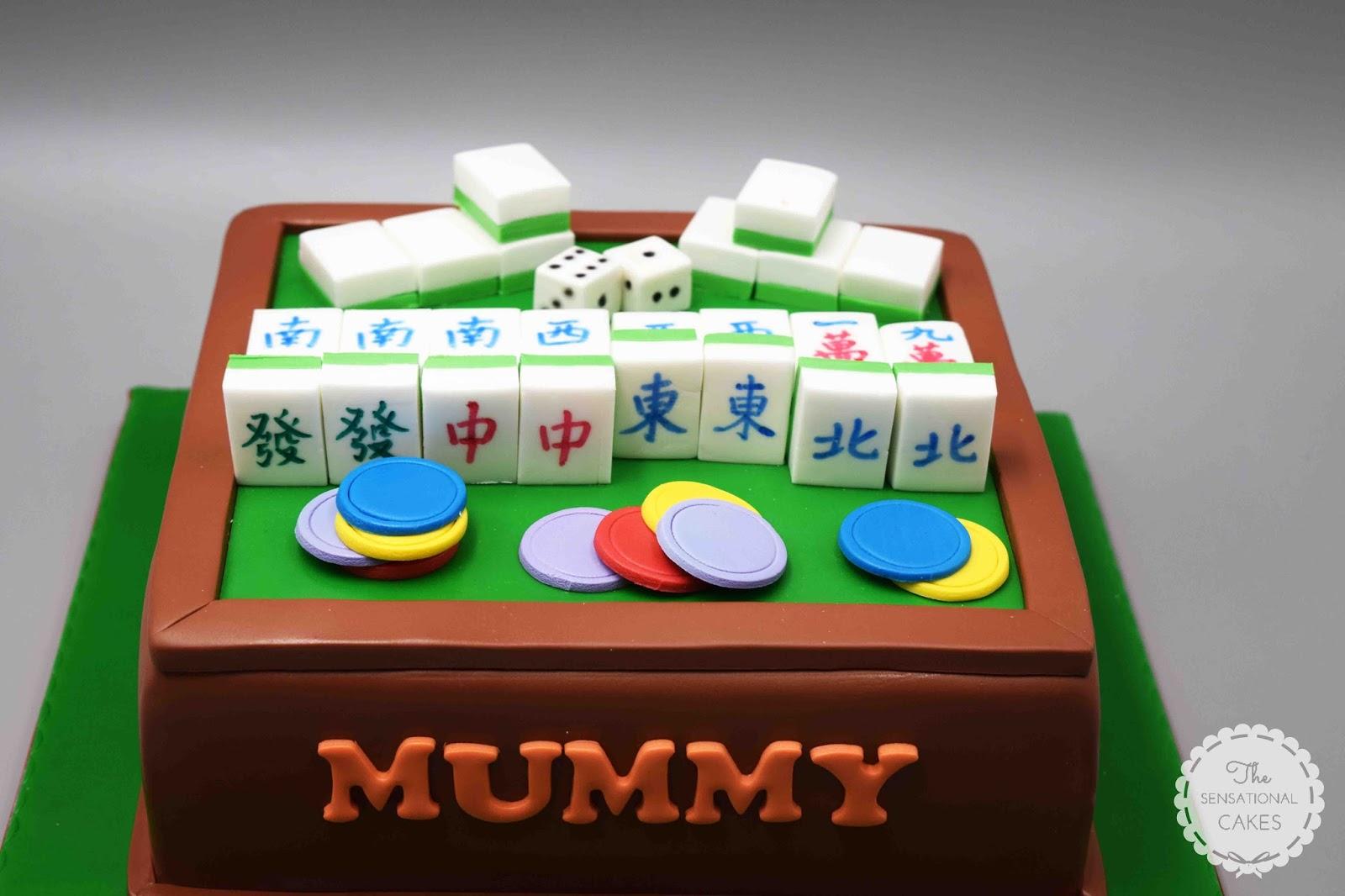 The Sensational Cakes Mahjong Play Inspired Theme 3d Cake Singapore