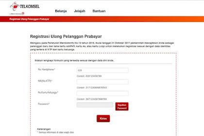Cara Mendaftar Ulang Kartu SIM Prabayar (Simpati) Telkomsel