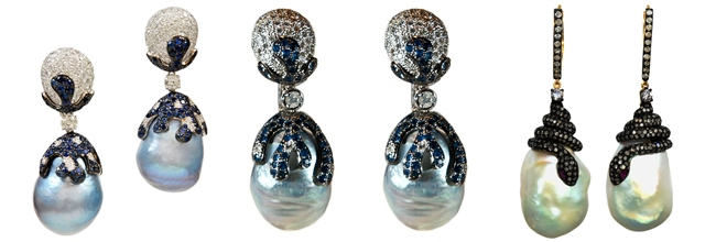 Luxury pearl earrings