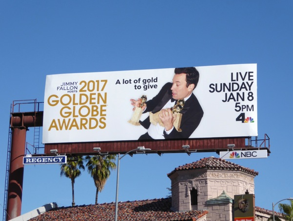 Jimmy Fallon 2017 Golden Globe Awards billboard