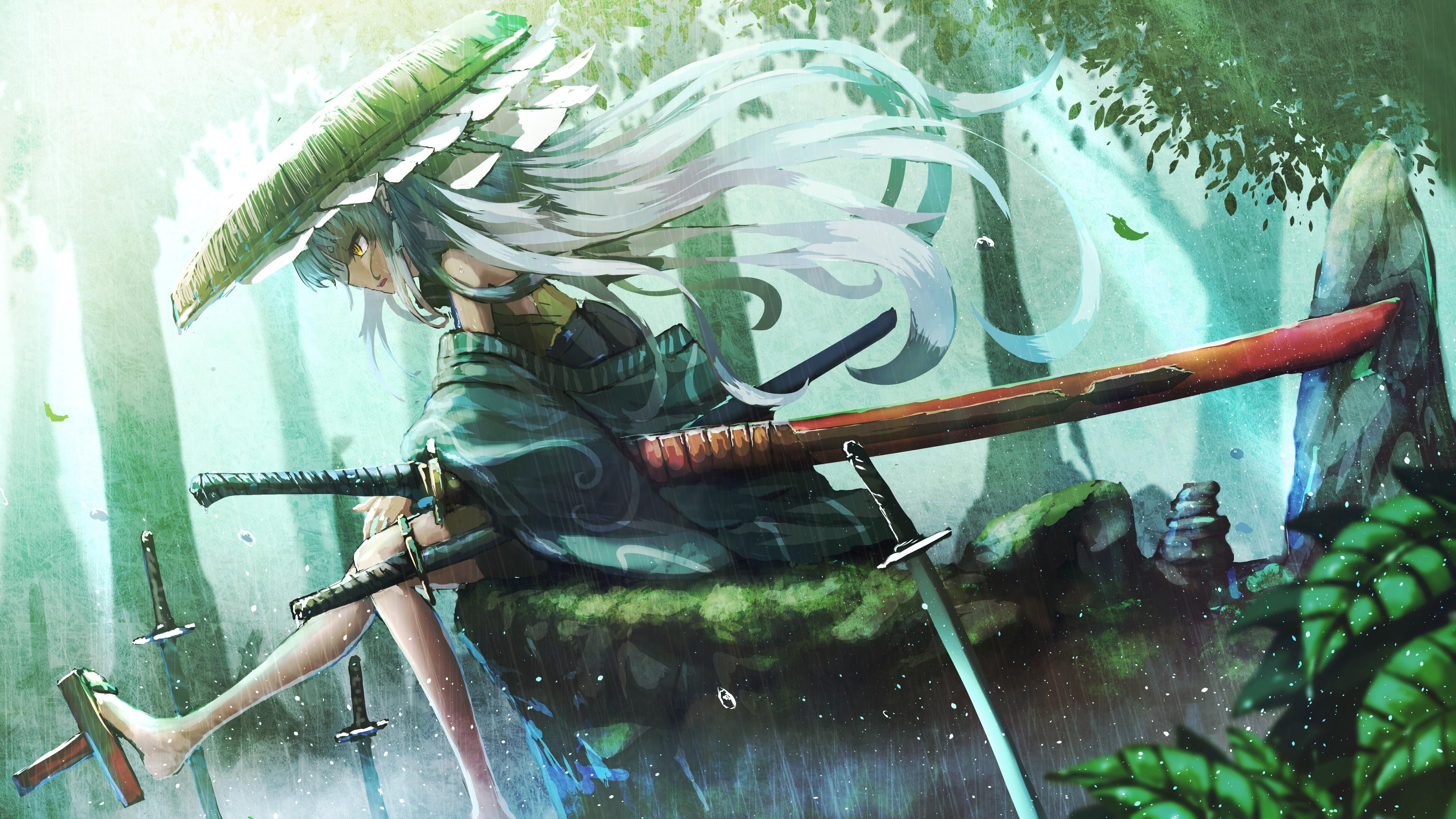 Samurai Girl Wallpaper Hd Anime Samurai Girl Katana 4k 91 Wallpaper