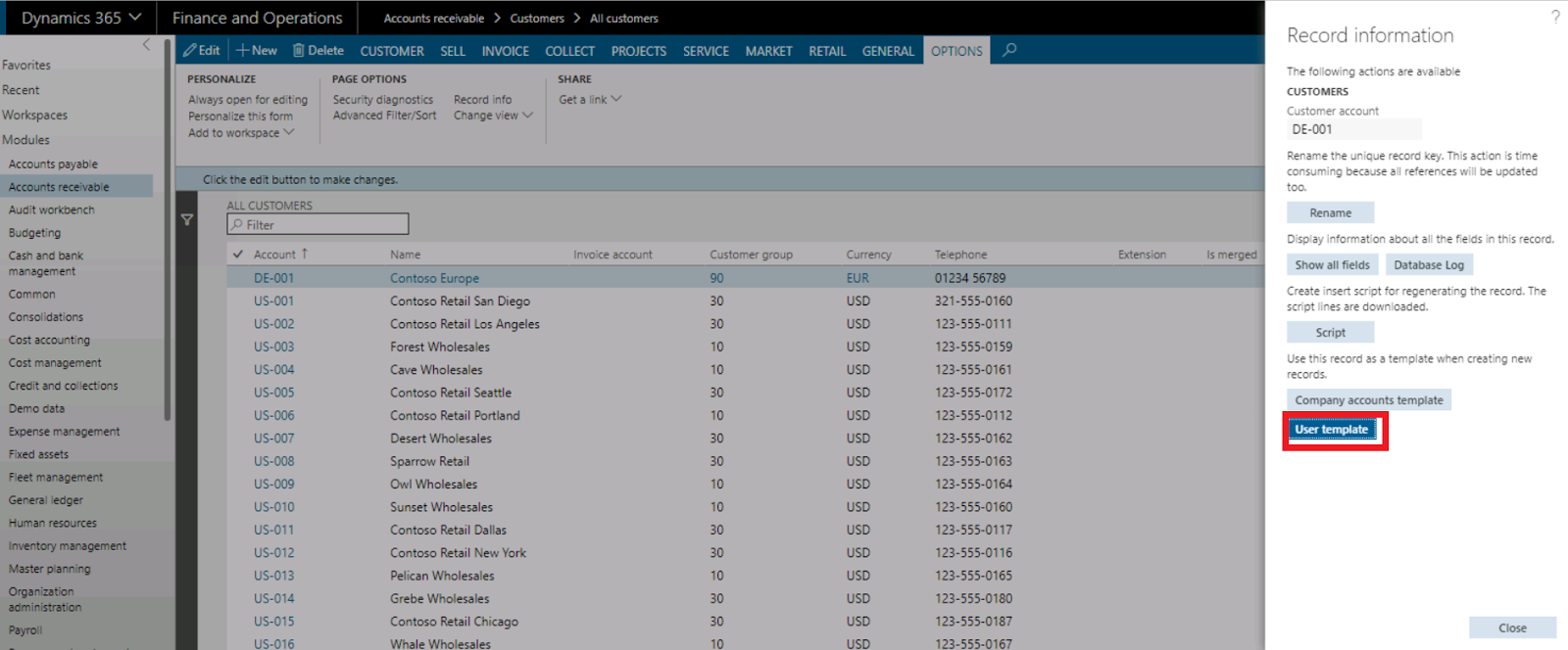 How to Create customer/vendor template in Dynamics 365 ...