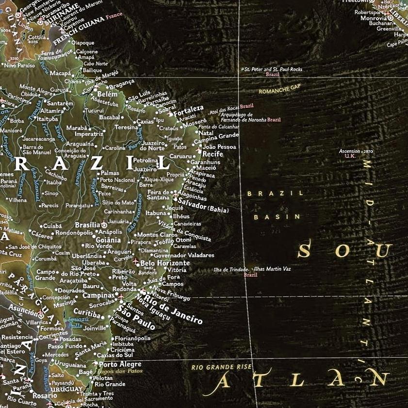 mapa mundi moderno decoracao