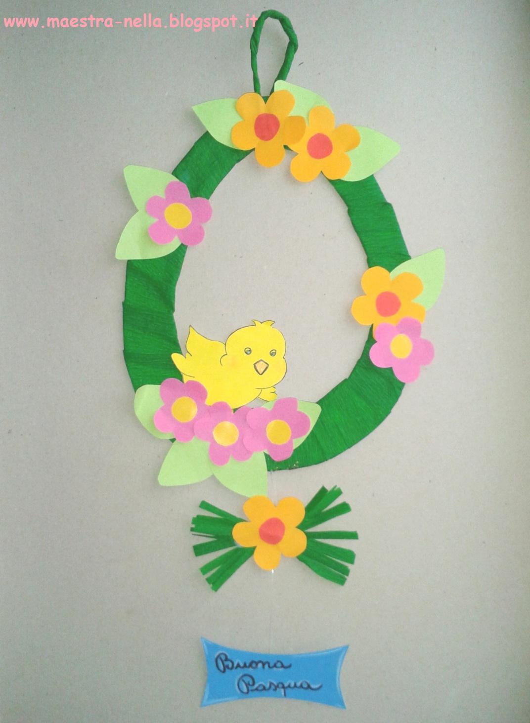 Maestra nella decorazione pasquale for Lavoretti natale scuola infanzia maestra mary