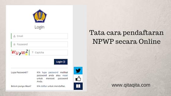 Tata cara pendaftaran NPWP secara Online