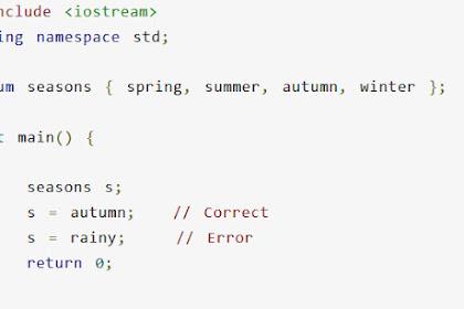 Tutorial dan Contoh Enumeration Pemrograman C++