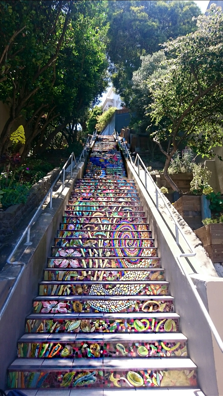 Colourful Mosaic Steps San Francisco