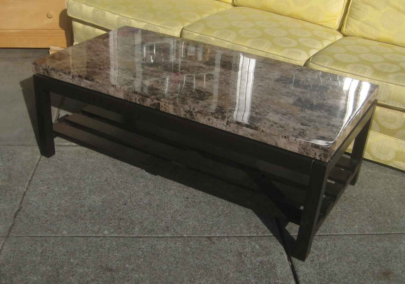 UHURU FURNITURE & COLLECTIBLES: SOLD - Faux Marble Top ...