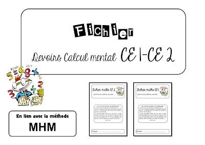 Calcul mental CE1 CE2 MHM méthode heuristique des mathématiques