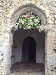 church doorway Norfolk