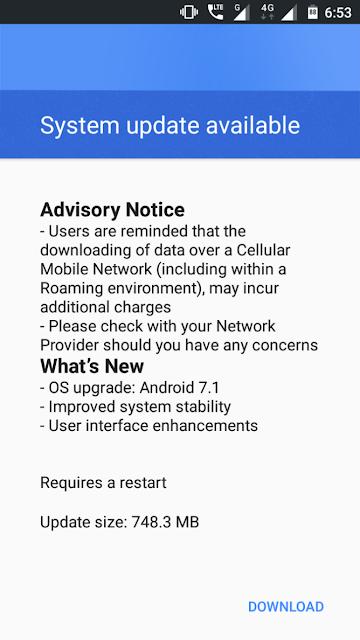 Nokia 3 Nougat Update