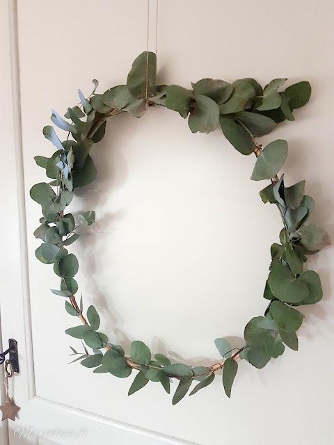 rottinki rengas kranssi joulu sisustus #kranssilove eucalyptus
