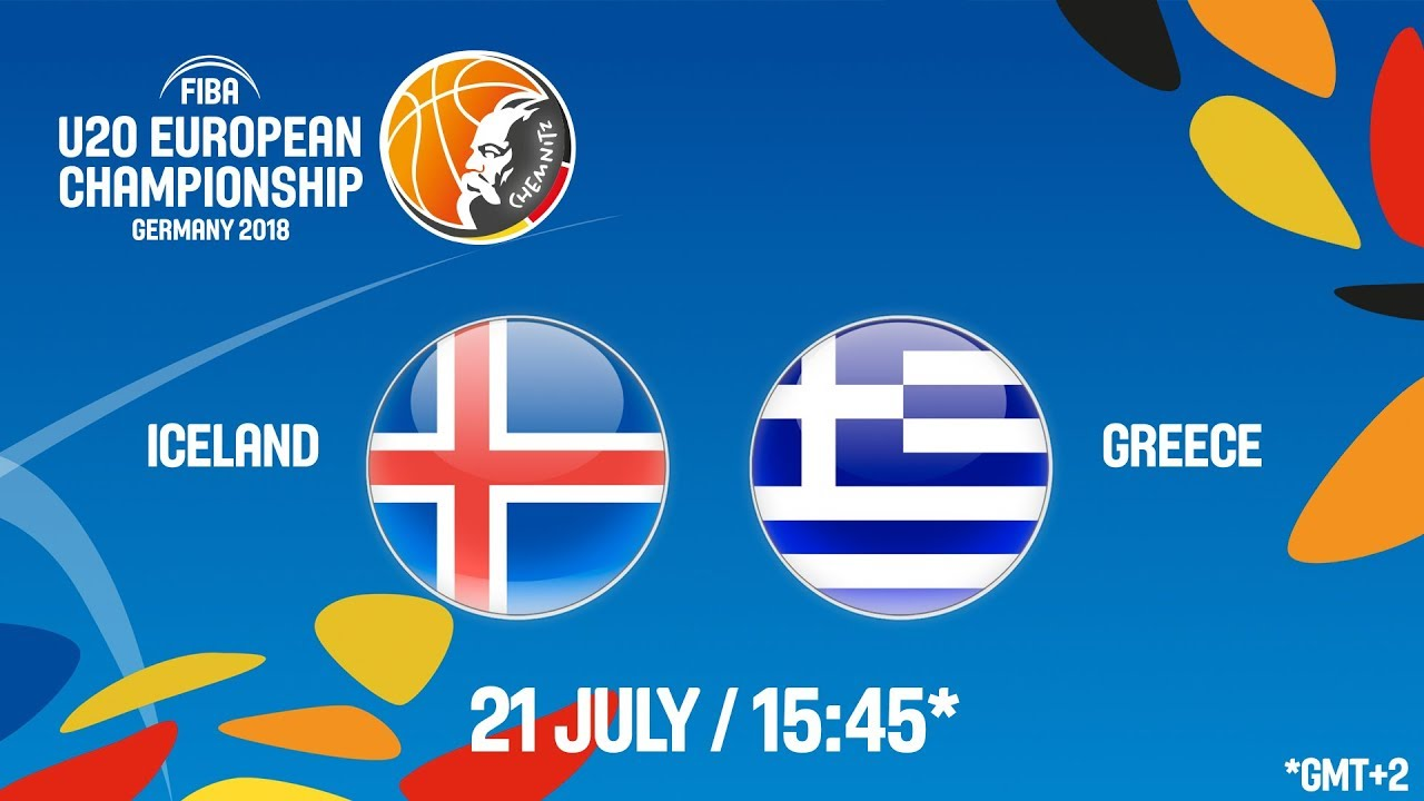 Ισλανδία - Ελλάδα ζωντανή μετάδοση στις 16:45 από την Γερμανία, για το Ευρωπαϊκό Νέων Ανδρών (Θέσεις 13-16)