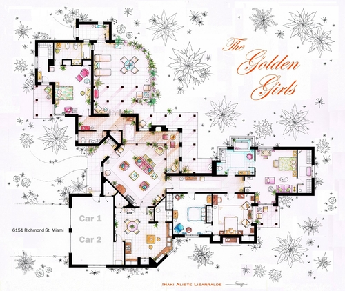 13-The-Golden-Girls-Blanche-Deveraux-Rose-Nylund-Dorothy-Sporznak-And-Sophia-Petrillo-Apartment-Floor-Plan-Inaki-Aliste-Lizarralde