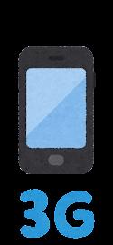 移動通信システムのイラストマーク(3G)