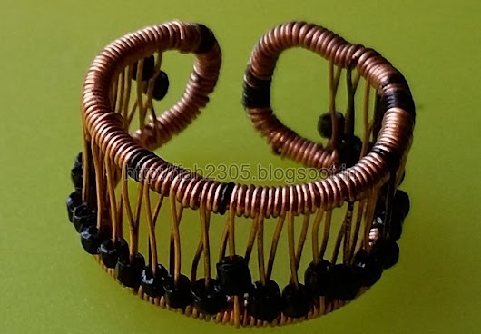 More Copper Wire Finger Rings