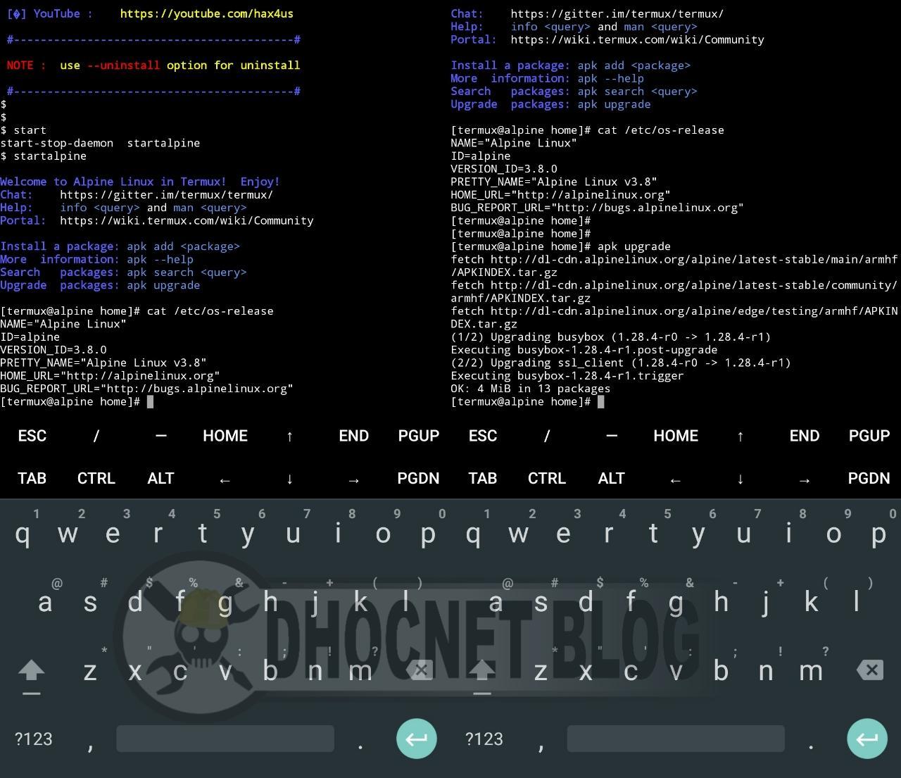 panduan instalasi alpine linux di android tanpa rooting - blog.dhocnet.work