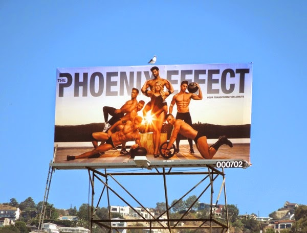 Phoenix Effect gym workout billboard