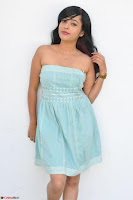 Sahana New cute Telugu Actress in Sky Blue Small Sleeveless Dress ~  Exclusive Galleries 022.jpg