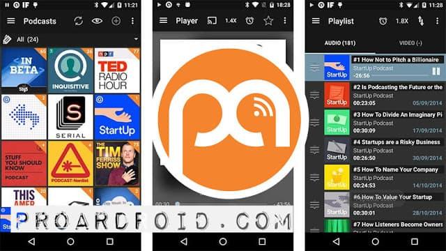 تطبيق Podcast & Radio Addict v4.3 لتشغيل الراديو و بودكاست النسخة المدفوعة logo