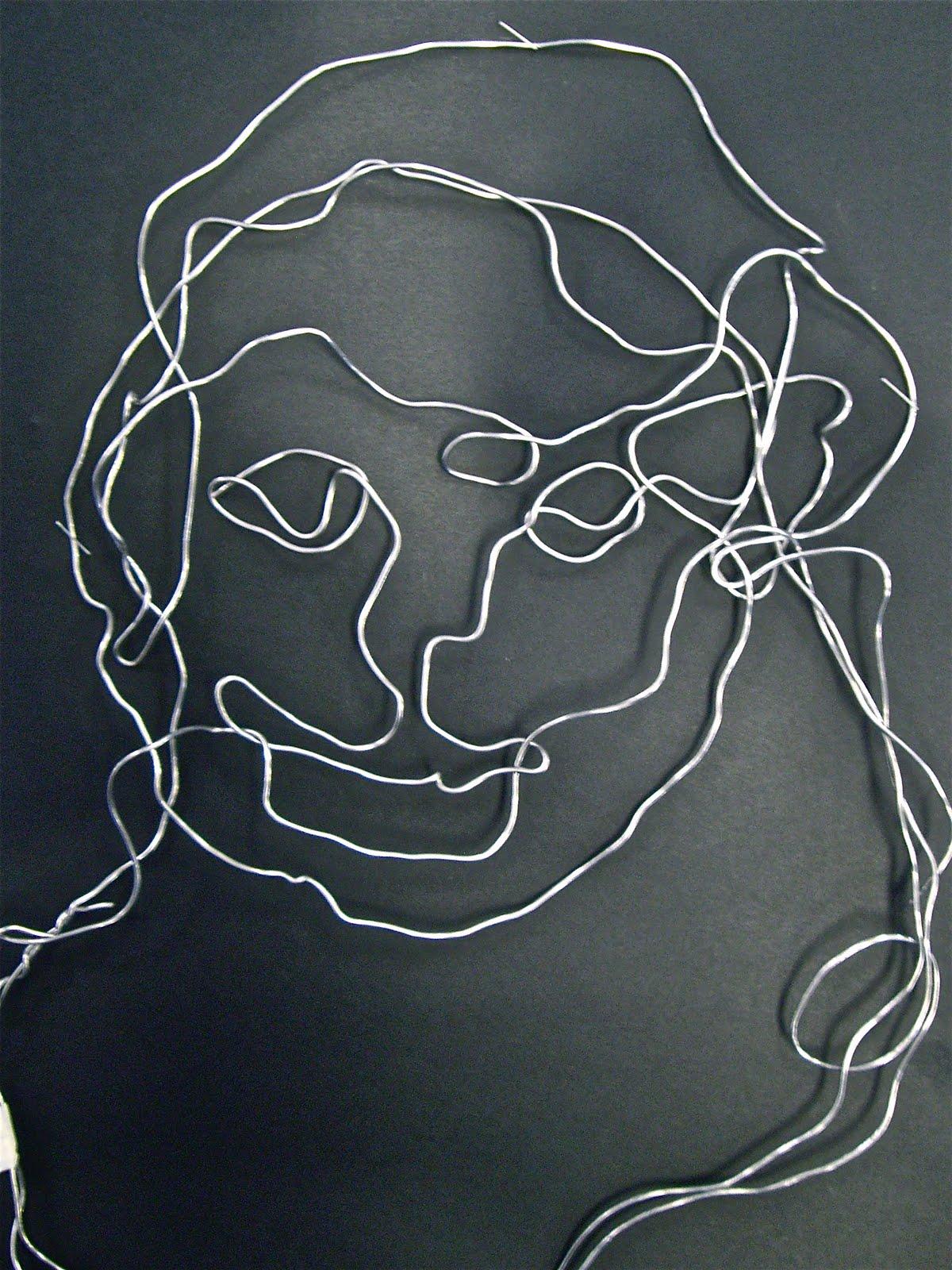 Use Your Coloured Pencils Contour Line Self Portraits