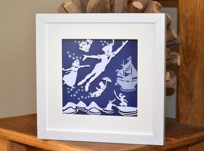 London Peter Pan papercut
