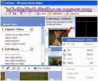 Membuat Video Menggunakan Foto dengan ( Windows Movie Maker )