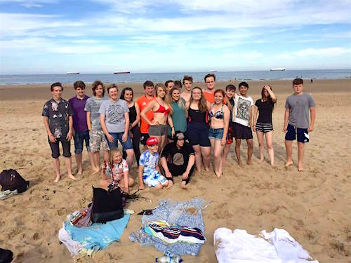 tynemouth beach party for charity