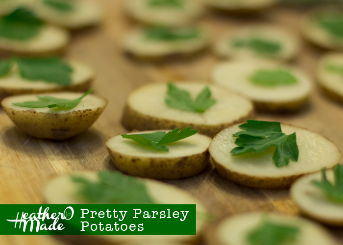 Pretty Parsley Potatoes recipe. valentines day dinner.