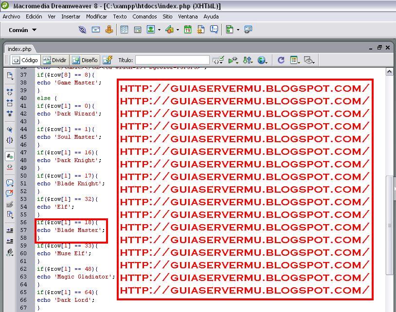 Agregando fragmento de código