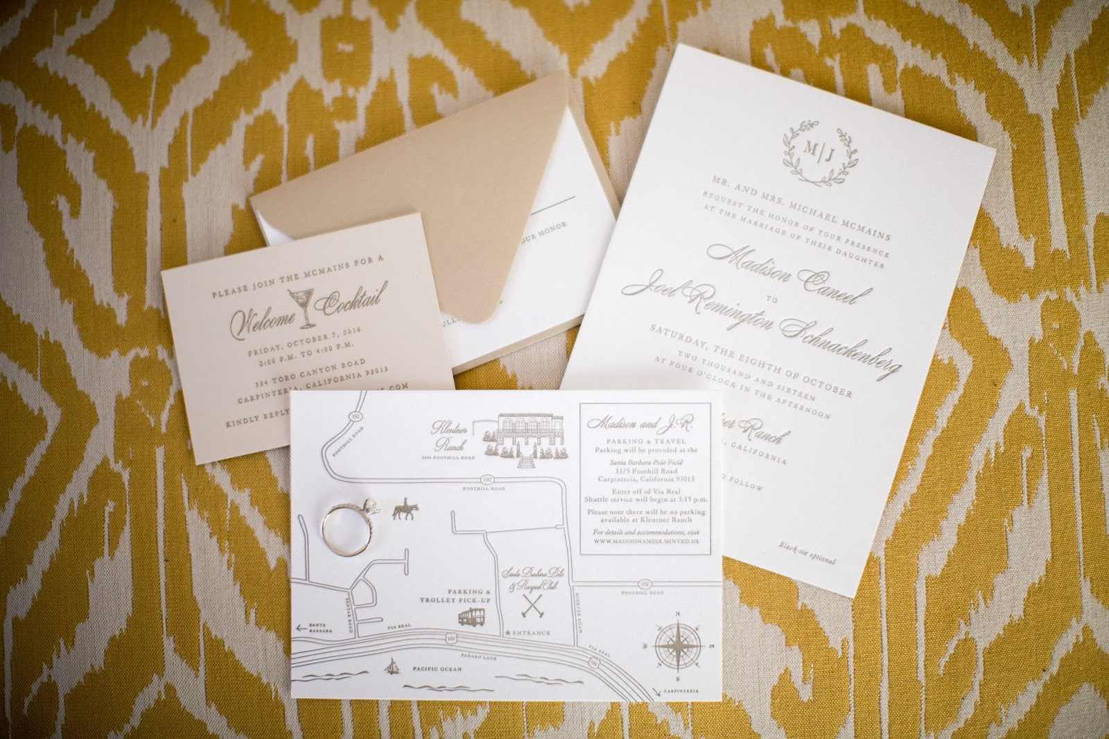 Santa Barbara Wedding Invitations | Sweetly Said Press