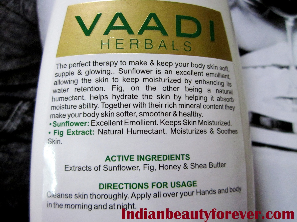 Vaadi hand and Body lotion with sunflower extracts review