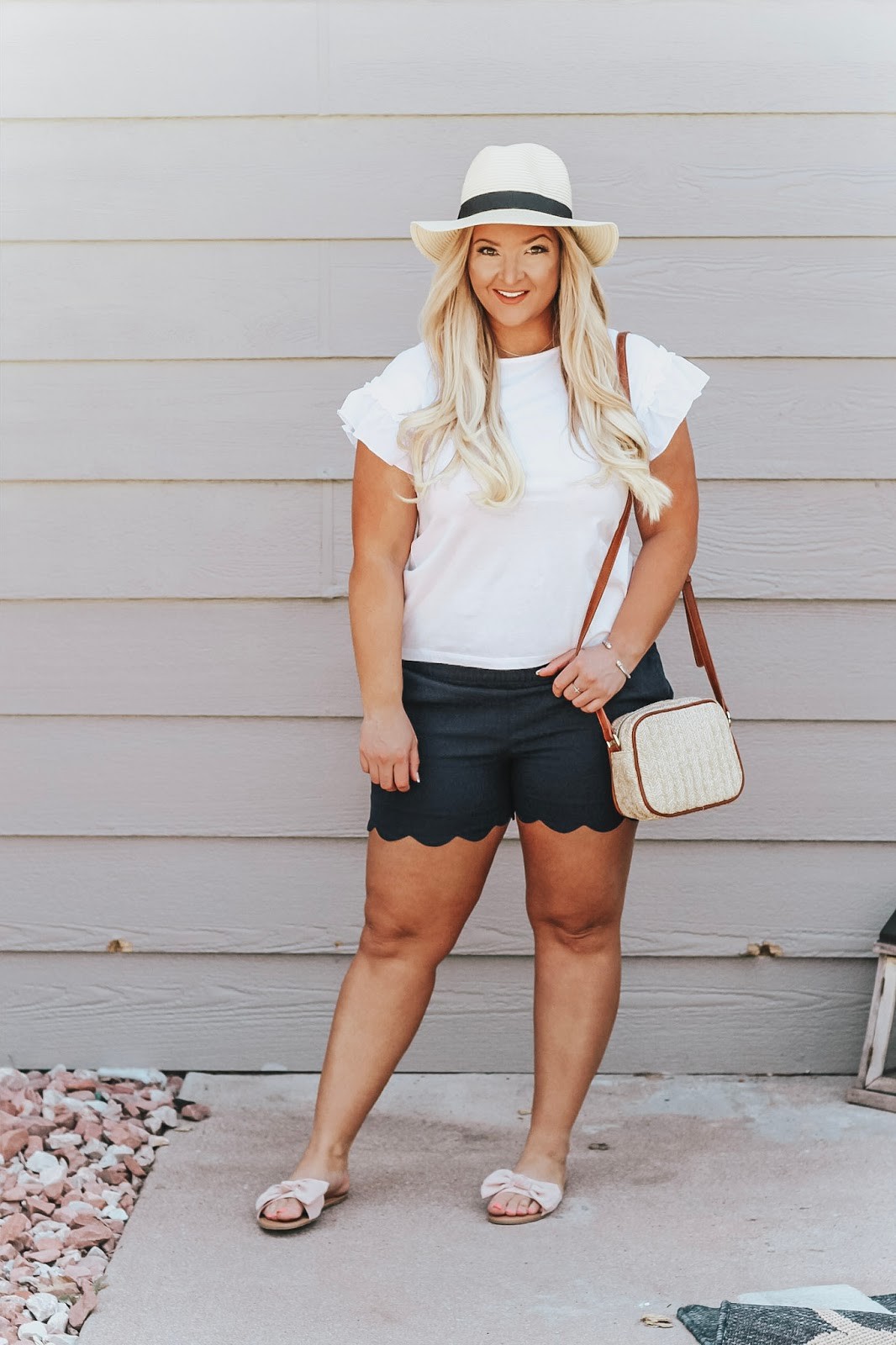 Scallop Shorts featured by popular Colorado fashion blogger, Delayna Denaye