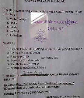 Lowongan Kerja Bimbingan Belajar Smart Brain
