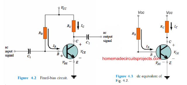 fixed bias BJT circuit