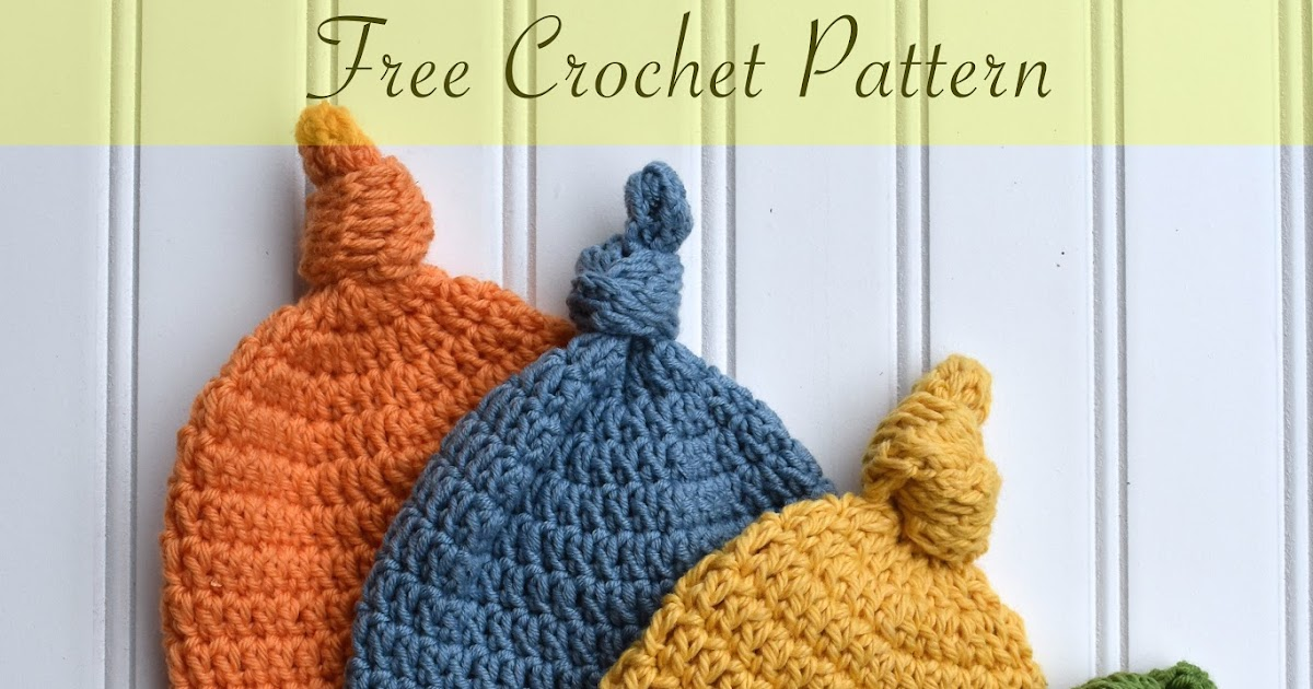 Just be happy!  Top Knot Hat - Free Crochet Pattern 55caadbdfc4