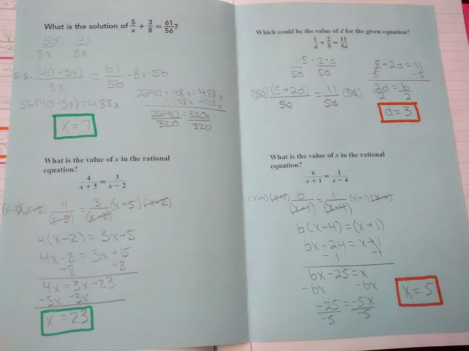Math = Love: Rational Expressions Interactive Notebook Pages