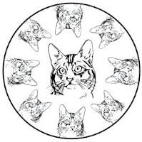 malvorlagen zum ausmalen: malvorlagen katzen: mandalas mit