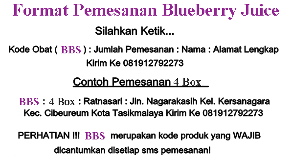 Format Pemesanan Blueberry Juice