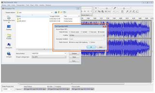 Memperkecil ukuran kualitas file musik secara serentak