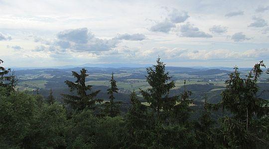 Panorama z punktu widokowego na Błędnych Skałach.