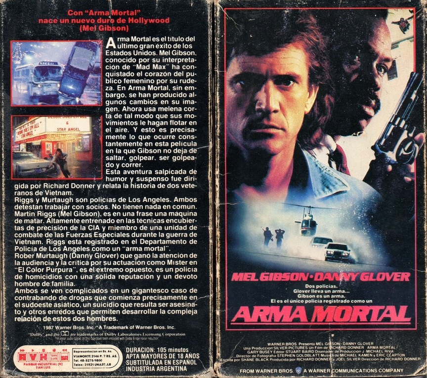 arma mortal vhs leathal weapon