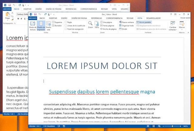 Optimiza el espacio de trabajo de Word 2013