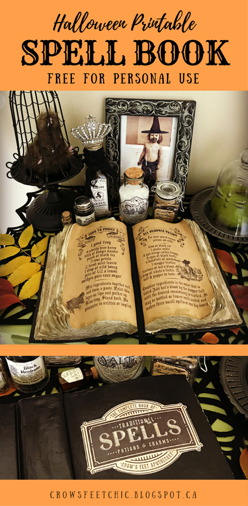 picture relating to Printable Spell Book Pages titled Witches Spell E book 2017 - Absolutely free Printable Crows Toes Stylish