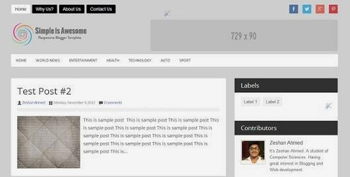 Best Blogger Template - Fast Loading & SEO friendly