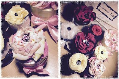 materiałowe kwiaty z materiału shabby chic galeria schaffar haute couture