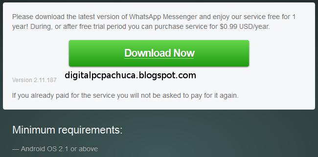 Versión 2,11,187 de WhatsApp Messenger para android
